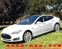 Wholesale Tesla MODEL S85D car stickers MODEL X side skirts sticker affixed TeslaP85D D modified garland