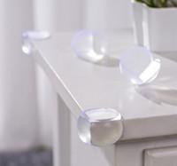 al por mayor gafas de seguridad redondas-Esquina redonda protectores de esquinas cojines para mesas o estantes con 3M etiqueta engomada de la esquina de seguridad del bebé 3000pcs DHL libres