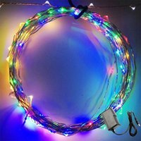RGB wire tree - Christmas light M Ft Leds Starry Copper Wire Warm Cool Multi LED Light DC Power Supply US