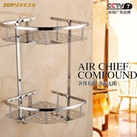 Wholesale All copper chrome bathroom shelf bathroom shelf bathroom toilet angle bracket tripod Specials