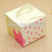 Wholesale Cookies Bunny - Cute little bunny Bear moon cake gift box cake box cookie box 9.5x9.5x8cm