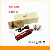 Pluma vaporizador de hierbas Baratos-Titan II kit de cigarrillo electrónico Burn hierbas secas vaporizador pluma con 2200 mAh de la batería Pantalla LCD Titan caja de regalo de titanio 2 de vapor