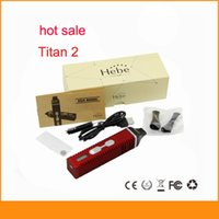 achat en gros de e cadeaux-Titan kit II E cigarette brûler les herbes sèches Vaporisateur stylo avec 2200mAh batterie LCD Titan 2 vapeur coffret cadeau de titane