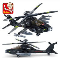 apache products - Sluban2014 military Apache AH new products fighter model Building Blocks Set boy children enlightenment educational toys