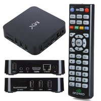 Wholesale Hot selling Android amlogic MX dual core ghz GB Ram GB Rom wifi d RJ45 AV HD P XBMC Preinstalled tv box