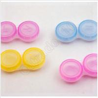 Wholesale 1000pcs CCA3603 High Quality Contact Lens Case Transparent Contact Lens Case Candy Color Dual Box Double Case Eye Contact Plastic Con Cases