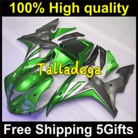 Wholesale Complete fairing For YAMAHA YZF R1 E2 Green White Gray Plastic fairing set R1 Excellent product Gilts