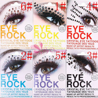 Wholesale Sexy Women Eyes Rock Sticker Transfer Crystal Tattoos Beauty Makeup