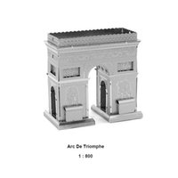arch metal buildings - Educative Toy Silver Triumphal Arch Construction D Model Nano Metal DIY Puzzle Brain Game