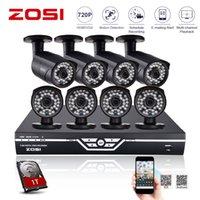 al por mayor sistema de cctv zosi-Zosi 8CH Sistema CCTV 8CH 720P AHD CCTV DVR de 1TB HDD Sistema de Vigilancia de la cámara de CCTV 1.0 MP Seguridad cámara exterior de infrarrojos 1200TVL