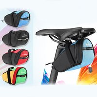 Wholesale ROSWHEEL Outdoor Bicycle Bike Seatpost Bag Cycling Pouch Seat Saddle Rear Tail Package BICYCLE SADDLE BAG Black