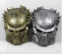 Wholesale 2017 New Colors Iron Man Style AVP Costume Masks Supper Alien Vs Predator Mask Warrior Movie Prop AVPR Soldier