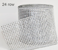 Wholesale 10 Yard Diamond New Wedding Gift DIY Craft Accessories Rows Diamond Mesh Wrap Sparkle Rhinestones Crystal Roll For Party