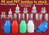 Electronic Cigarette bottle pet - Needle bottle PET PE ML ml ML ML ML ML Plastic Dropper Bottle Empty E Liquid Bottle Oil Bottle Childrenproof Cap PS DHL FEDEX