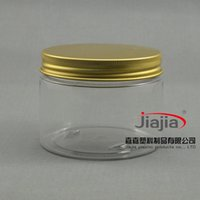 air tight box - g Gold Aluminum Cap PET Tank Tea Box Beauty Care Cream Jar Cookies Container ml air tight jar