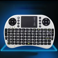 Wholesale 1pcs Portable mini keyboard Rii Mini i8 Wireless Keyboard with Touchpad for PC Pad Google Andriod TV Box