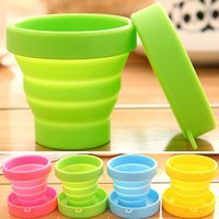 Wholesale New Portable Magic FoldingTelescopic Collapsible Travel Picnic Cup Camping Outdoor ml