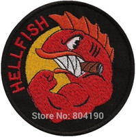 animated flies - 3 quot Simpsons The Curse Of The Flying HELLFISH Comic Uniform Animated Movie TV Series Costume Embroidered applique sew on iron on patch