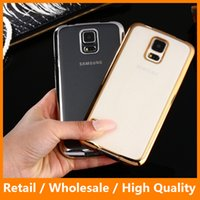 Wholesale Soft TPU Cover for Samsung Galaxy s7 s7edge Electroplating Metal Bumper Clear Back Cover Soft TPU Electroplated Case