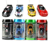 Wholesale High tech Mini Coke Can RC Radio Speed Remote Control CH Micro Racing Car Hobby Vehicle fun game kids baby Toy Birthday Gift