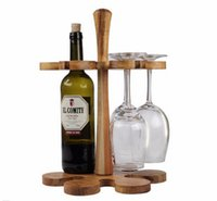 acacia wine - Creative Acacia Wood Bar Beer Wine Rack Wine Holder Wine Accessories Whisky Glass Cup Bottle Holder