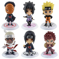 Wholesale Set Q Edition Naruto Anime Action Figures Collection PVC Naruto Figures Model toy Set Action Figure Toys