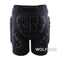 Wholesale WOLFBIKE Black Short Protective Hip Butt Pad Ski Skate Snowboard skating skiing protection drop resistance roller padded Shorts