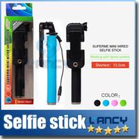 Wholesale Handheld monopod selfie sticks pen pocket foldable portable Extendable super supreme mini Wired selfie stick mini1 z07 s groove gopro