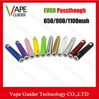 other Evod Battery Passthrough 900mAh Good Price Evod Passthrogh Battery Electronic Cigarette 650mah 900mah 1100mah Colorful Evod Passthrough Battery With 510 Thread Hot VG007