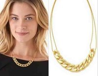 Wholesale jewelry chain necklace influx of women clavicle chain necklace double chain
