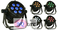 auto bits - 7 LED W RGBWA in IP65 led par can waterproof DMX dj stage lighting BIT dimmer
