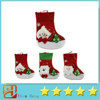 Wholesale Delicate Christmas Stockings Socks Party Gift Bag Christmas Tree Decoration Supplies Sant Hot Selling