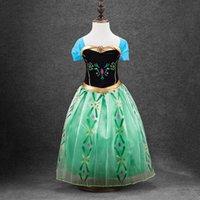 factory direct clothing - Factory direct children s performance clothing Frozen net veil girls dress Girls princess Europe