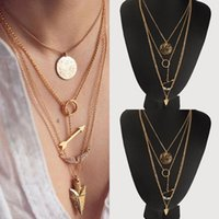 alloy clothing - Fashion Girls Rhinestones Wings Coins Arrows Chokers Trendy Women Party Vacation Necklace Clothing Accessories