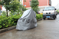 bicycle rain cover - 210 cm Waterproof Dust and Rain motorcycle and Bicycle Cover and Protector Gray White