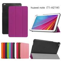Wholesale Ultra Slim Magnetic Custer Fold Fodling Folio Stand Leather Case cover For HuaWei Mediapad T1 Note T1 A21W pc