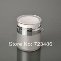 airless jar - 50G Cosmetic Acrylic Airless Cream Jar Cosmetic Acrylic Packaging Pear White Cream Jar Acrylic Jar