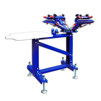 screen printing machine - Four Color One Station Floor Type Single Color Screen Printing Machine Screen Print Press DIY Screen Printing Equipment