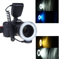 Wholesale Digital Camera Accessory RF D Macro LED Ring Flash Light for Canon Nikon Pentax Olympus Panasonic DSLR