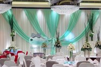 backdrops for sale - TOP Sale White Wedding Backdrop Curtain With Turquoise Color Drape Swag For Wedding Decoration