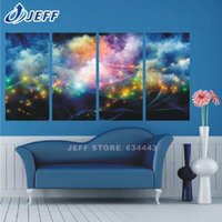 Wholesale 4 Piece Hot Sell Fantastic star Modern Home Wall Decor Canvas picture Art HD Print Painting Canvas art Unframed