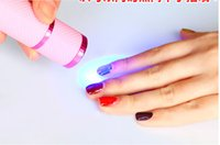 batteries battery currency - new Mini LED UV Gel Nail Polish Curing Lamp Nail Dryer LED Flashlight Currency Detector Aluminum Alloy Without Battery