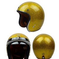 american scooter - brand design Gold american motorcycle helmet cascos motocross off road downhill scooter helmets open face summer style