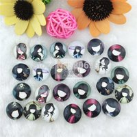 cabochons - pieces mm round cabochons mix kawaii image transparent glass cabochon jewelry findings xl1167