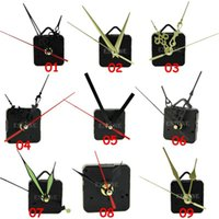 Wholesale New Styles Black Quartz Clock Movement Mechanism Repair DIY Tool Kit Black Hands Hot