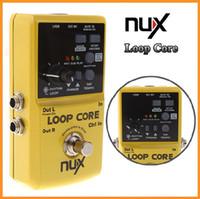 al por mayor nux pedales-NUX Loop Core Violao Guitarra Electric Effect Pedal 6 Horas de Tiempo de Grabación Built-in Drum Patterns Musical Instrument Parts