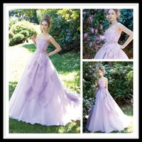 beauty events - Beauty Ball Gown Evening Dresses Lilac Sweethart Hand Make Flower Organza Formal Women Party Gowns Special Occasion Events Dress Online