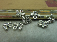 bee link - 100pcs x11mm Antique silver bee charm bee pendant swallow connector pedant Jewelry findings link bC6541