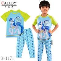 Wholesale Baby Boys Girls My Little Pony Clothing Set Kids Summer Style Pajamas Sets New Children Cartoon Cotton Clothes X