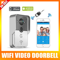 Wholesale New Weatherproof Wifi Video Door Phone Doorbell Wireless Intercom Support IOS Android For iPad Smart Phone Tablet Night Vision Unlock Alarm